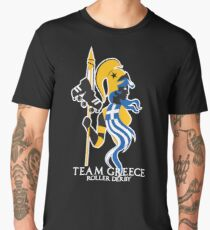 Team Greece Logo (Optimized for Black) Men's Premium T-Shirt