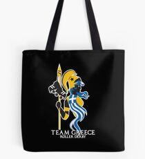 Team Greece Logo (Optimized for Black) Tote Bag