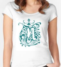 Letter M monogram Women's Fitted Scoop T-Shirt