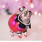 Funny Christmas Ornament by Kelly McKee