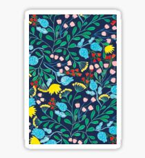 Floral Garden Blue Sticker