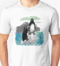Camiseta ajustada Penguins Watercolored