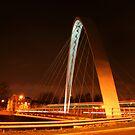 Hulme suspension bridge, Manchester by borstal