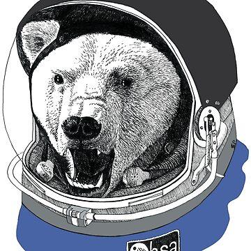 Astronaut polar bear by Simut-P