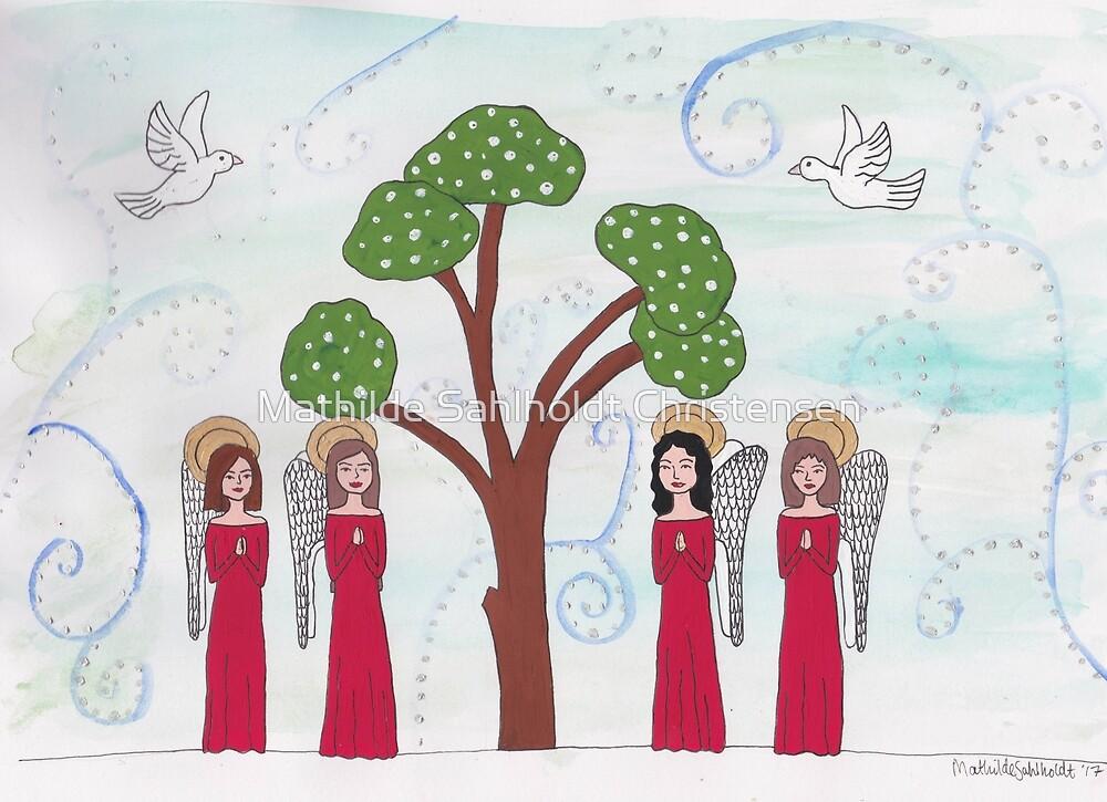 Angels Praying 2 by Mathilde Sahlholdt Christensen