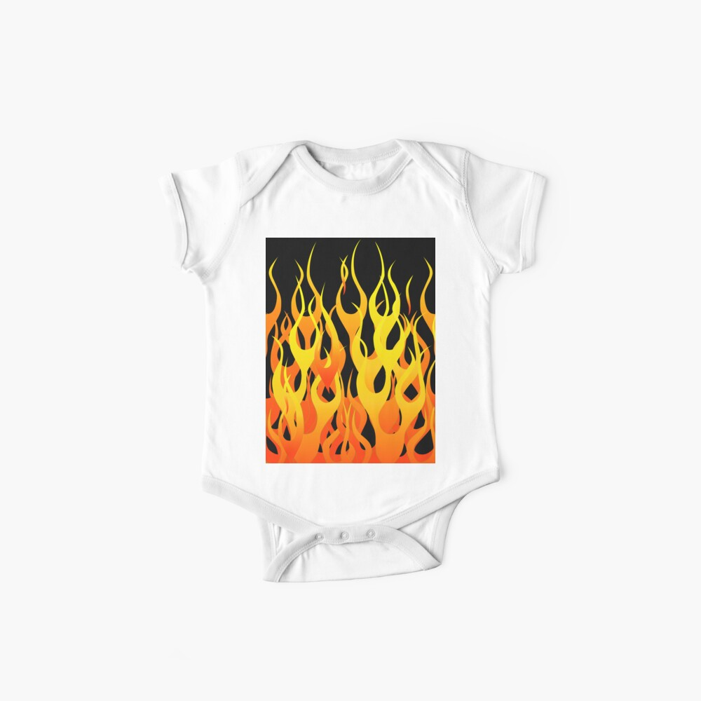 Racing Flames Baby One-Piece