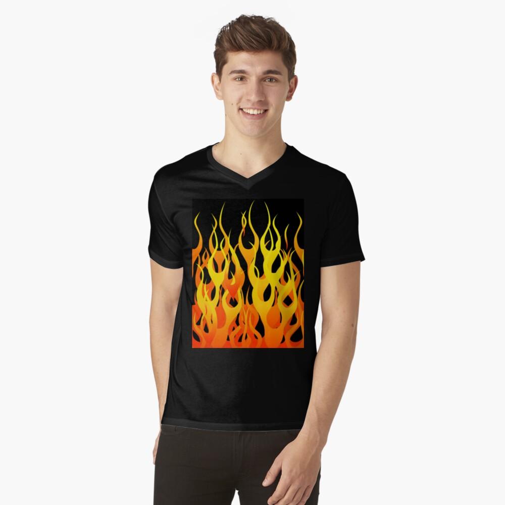 Racing Flames V-Neck T-Shirt