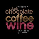 My Vegan Diet- Dark Chocolate, coffee and wine by robinpickens