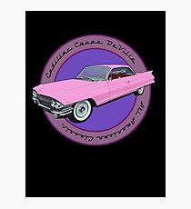 Pink Cadillac - Classic American Retro Car  Photographic Print