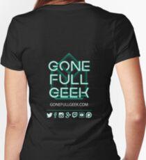 GoneFullGeek Full Logo (2017) Women's Fitted V-Neck T-Shirt