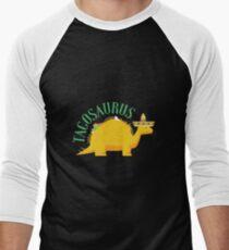 Funny Tacosaurus Taco Dinosaur  Men's Baseball ¾ T-Shirt
