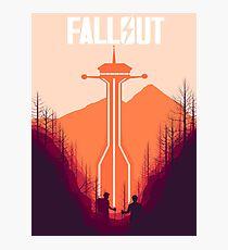 Fallout New Vegas Retro Poster  Photographic Print