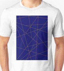 Blue and Gold Geometric  T-Shirt