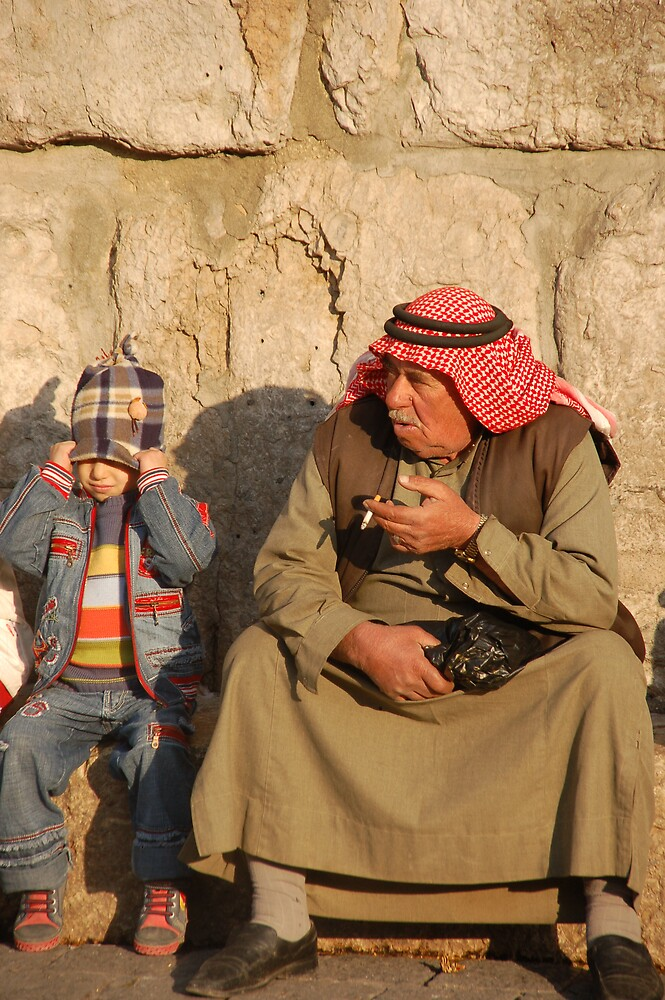 Old and young in Syria by Peter Gostelow