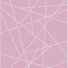 Pink and White Geometric by sunsetsummers