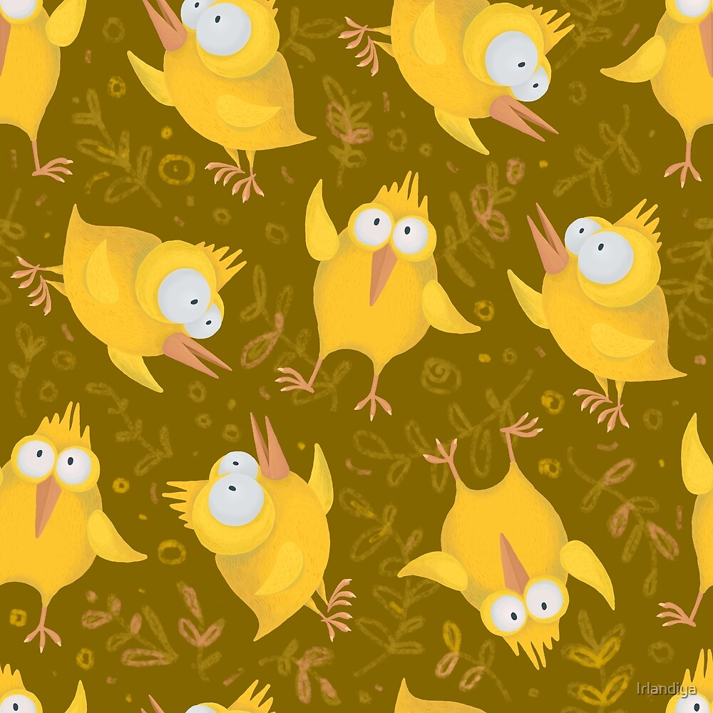 "Pattern ""Yellow Birds"" by Irlandiya"