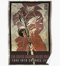 Fallout 4 Das Silberne Schleier braucht dich Retro Poster 2 Poster