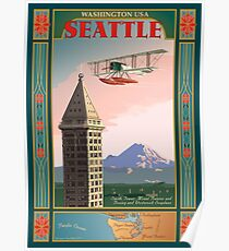 Seattle Icons Poster