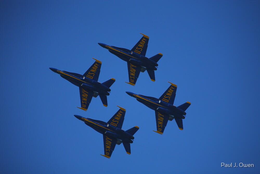 US Navy Blue Angels at San Francisco Fleetweek 2008 by Paul J. Owen