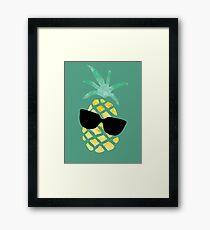 Funny Pineapple Framed Print