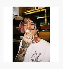 Lil Peep Photography - RIP Photographic Print