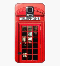 Red London Phone Box Case/Skin for Samsung Galaxy