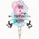 Sweet Birthday Greeting Card by Arterized