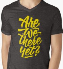 Are we there yet? - Typographic Road Trip Design T-Shirt