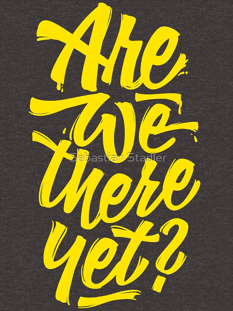 Are we there yet? - Typographic Road Trip Design von sebastianst