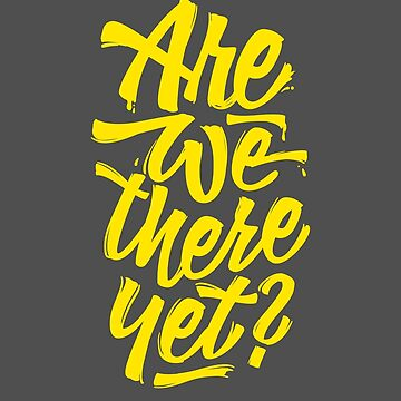 Are we there yet? - Typographic Road Trip Design von sebastianst