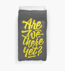 Are we there yet? - Typographic Road Trip Design Bettbezug