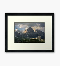 Evening at Cinque Torri Framed Print