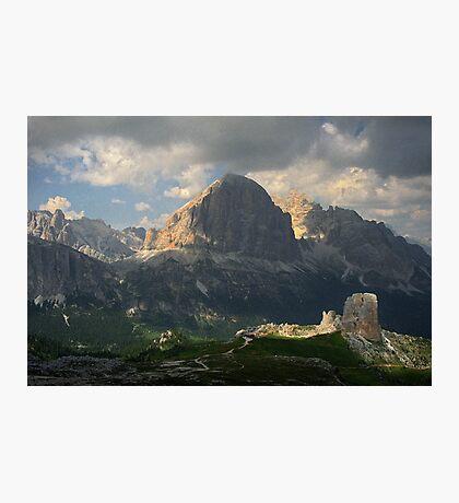 Evening at Cinque Torri Photographic Print