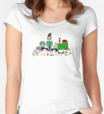 Christmas Elf Women's Fitted Scoop T-Shirt