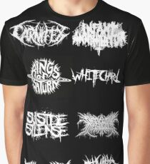 Deathcore Bands Shirt Graphic T-Shirt