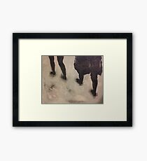 Walks Framed Print