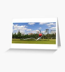Minneapolis, Minnesota spoon and cherry sculpture Greeting Card