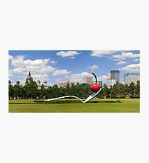 Minneapolis, Minnesota spoon and cherry sculpture Photographic Print