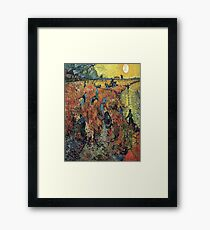 The Red Vineyard- Vincent van Gogh Framed Print