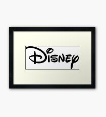 Disney Wording Framed Print