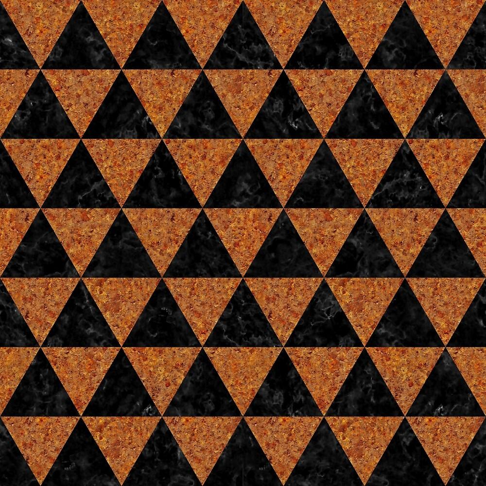 TRIANGLE3 BLACK MARBLE & RUSTED METAL by johnhunternance