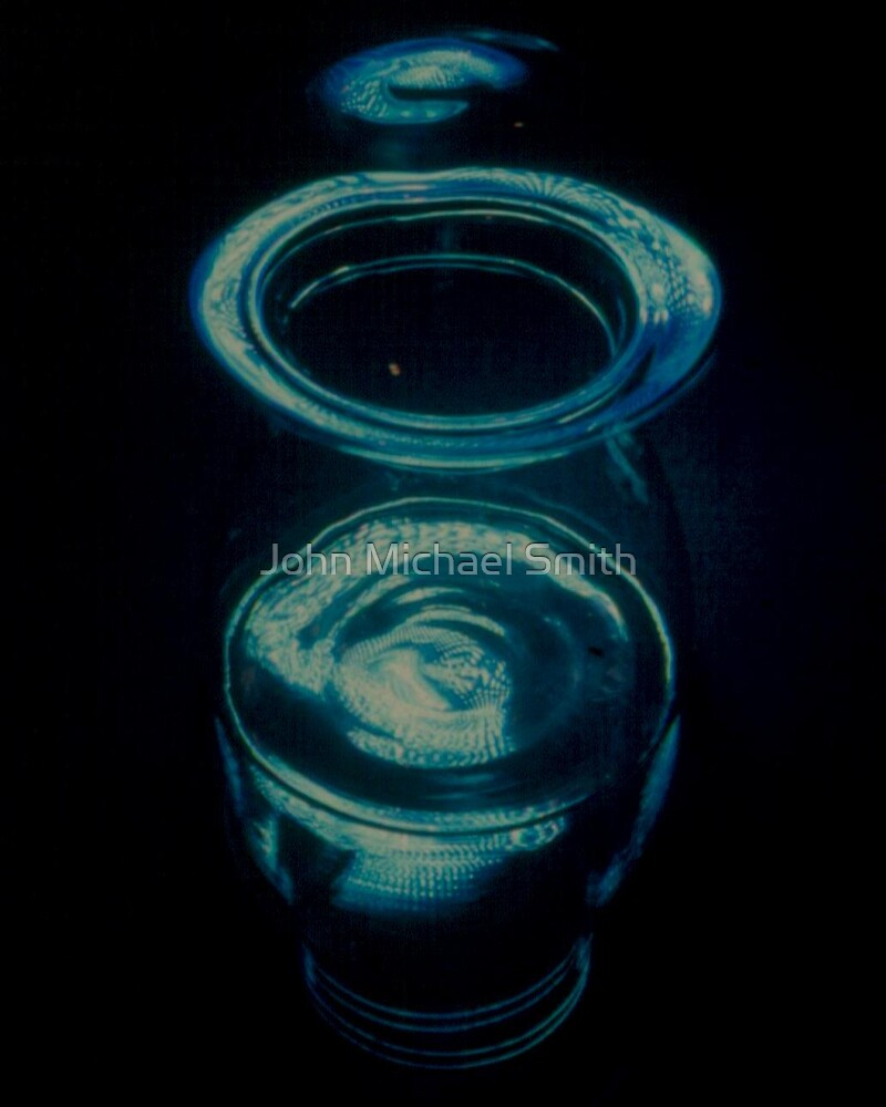 Blue Mushroom Jar by John Michael Smith