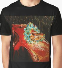 Lioness Acrylic Painting on Canvas Graphic T-Shirt