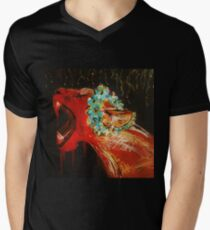 Lioness Acrylic Painting on Canvas T-Shirt