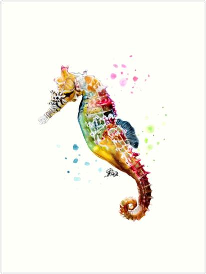 Rainbow Seahorse by Arterized