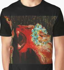 Lioness and Lilies: Acrylic Graphic T-Shirt