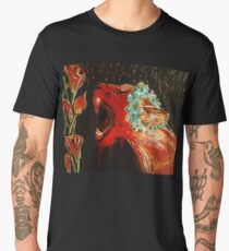 Lioness and Lilies: Acrylic Men's Premium T-Shirt