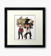 Tiger & Bunny Cute Chibi Framed Print