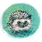 baby hedgehog by Gregory Moore