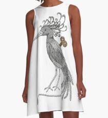 Wind-Up Bird A-Line Dress